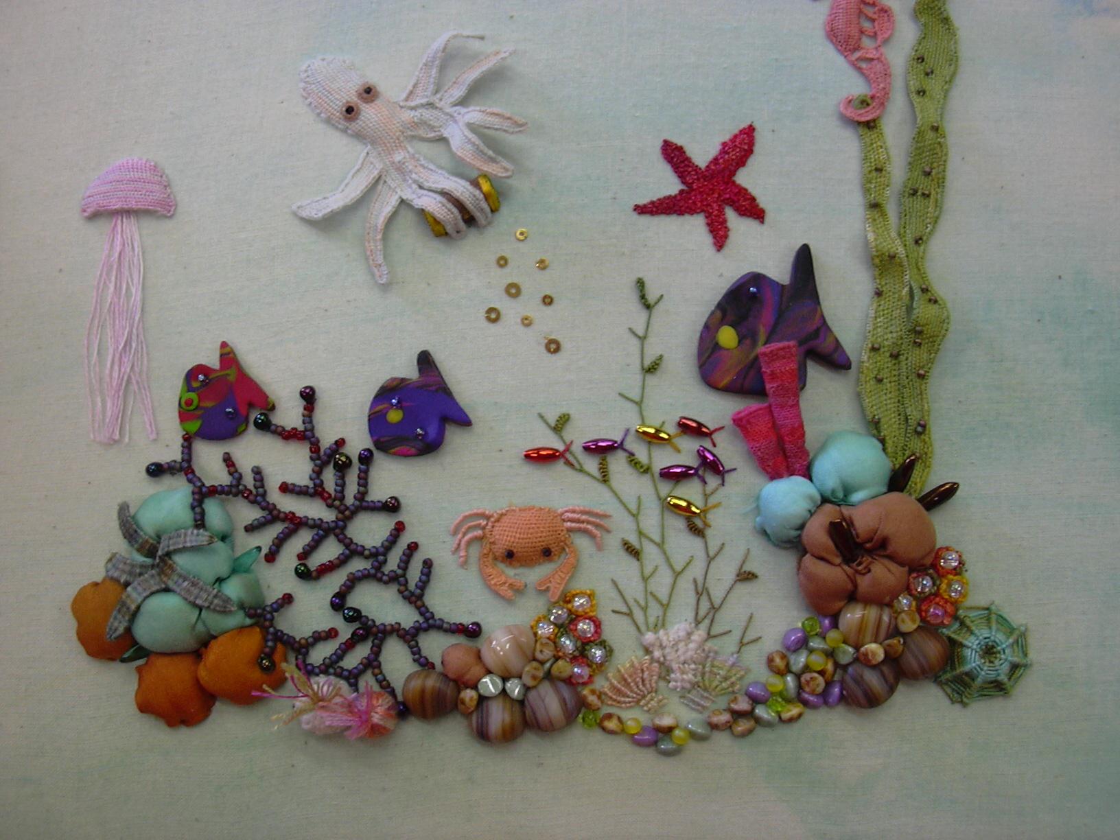 Denman Summer School : Embroidery (Hand) and Beading : An Octopus' Garden - 4 Night : Pat Trott