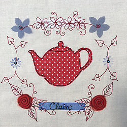 Free Machine Embroidery: Doodles In Stitches - Time for Tea : Claire Muir