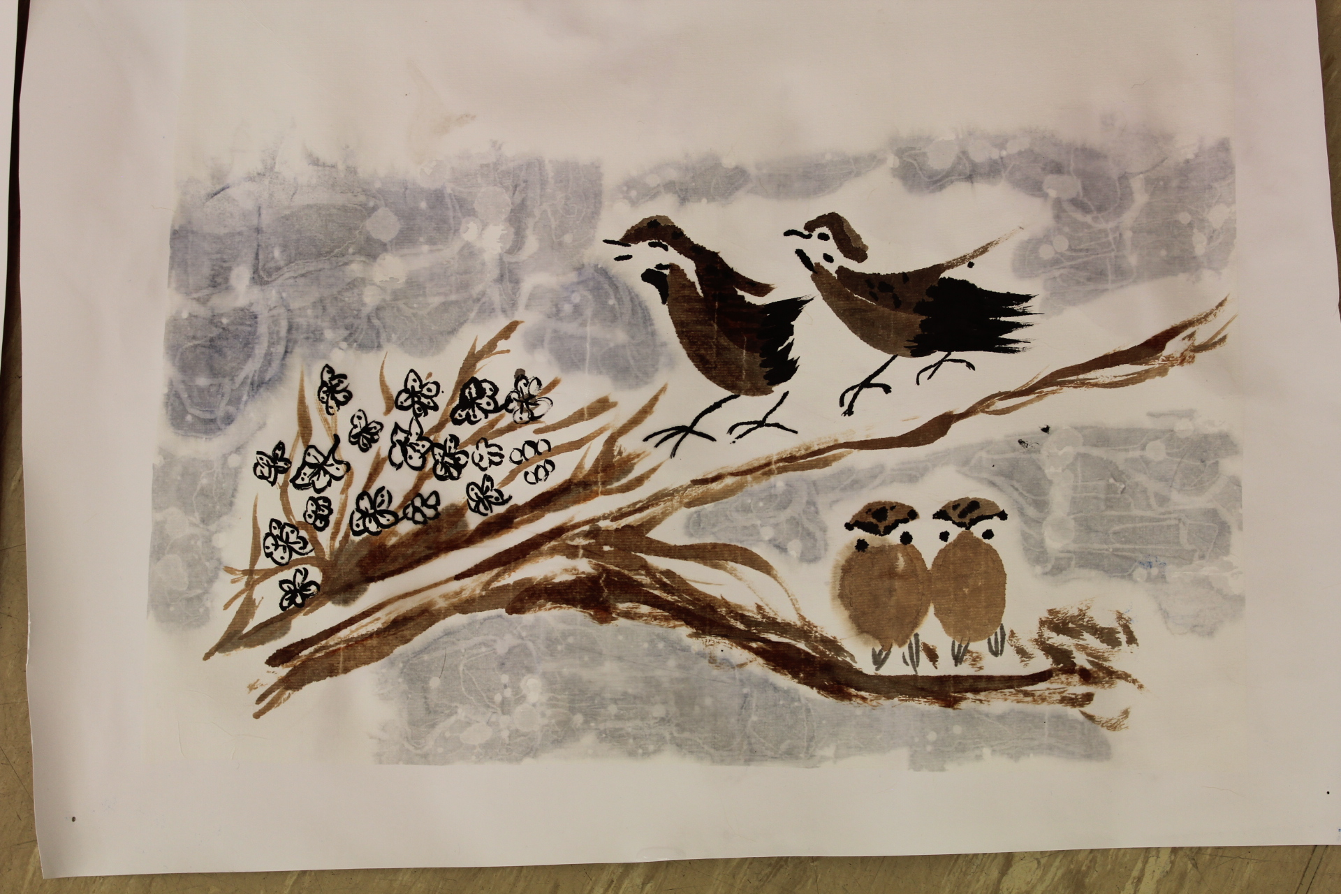 Chinese Brush Painting: Flowers and Birds in Winter : Jean Turton