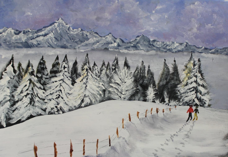 Acrylic Painting: Winter Landscapes : Jonathan Newey