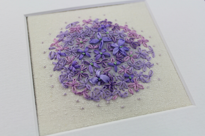 Ribbon Embroidery : Blooming Alliums : Marilyn Pipe
