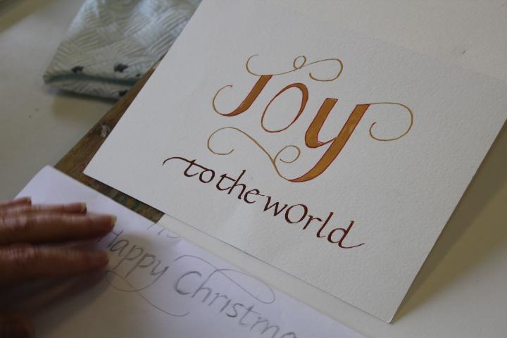 Calligraphy: Christmas Italics : Jan Mehigan