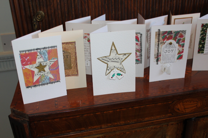 Christmas Cards in Mixed Media : Marilyn Pipe