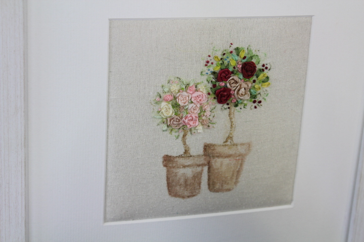 Ribbon Embroidery : A Flowering Topiary Tree : Marilyn Pipe