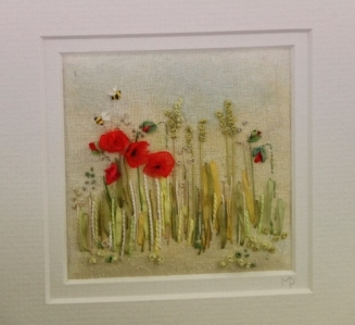 Ribbon Embroidery: A Poppy Field : Marilyn Pipe