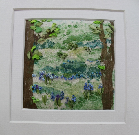 Ribbon Embroidery: Bluebell Woods : Marilyn Pipe
