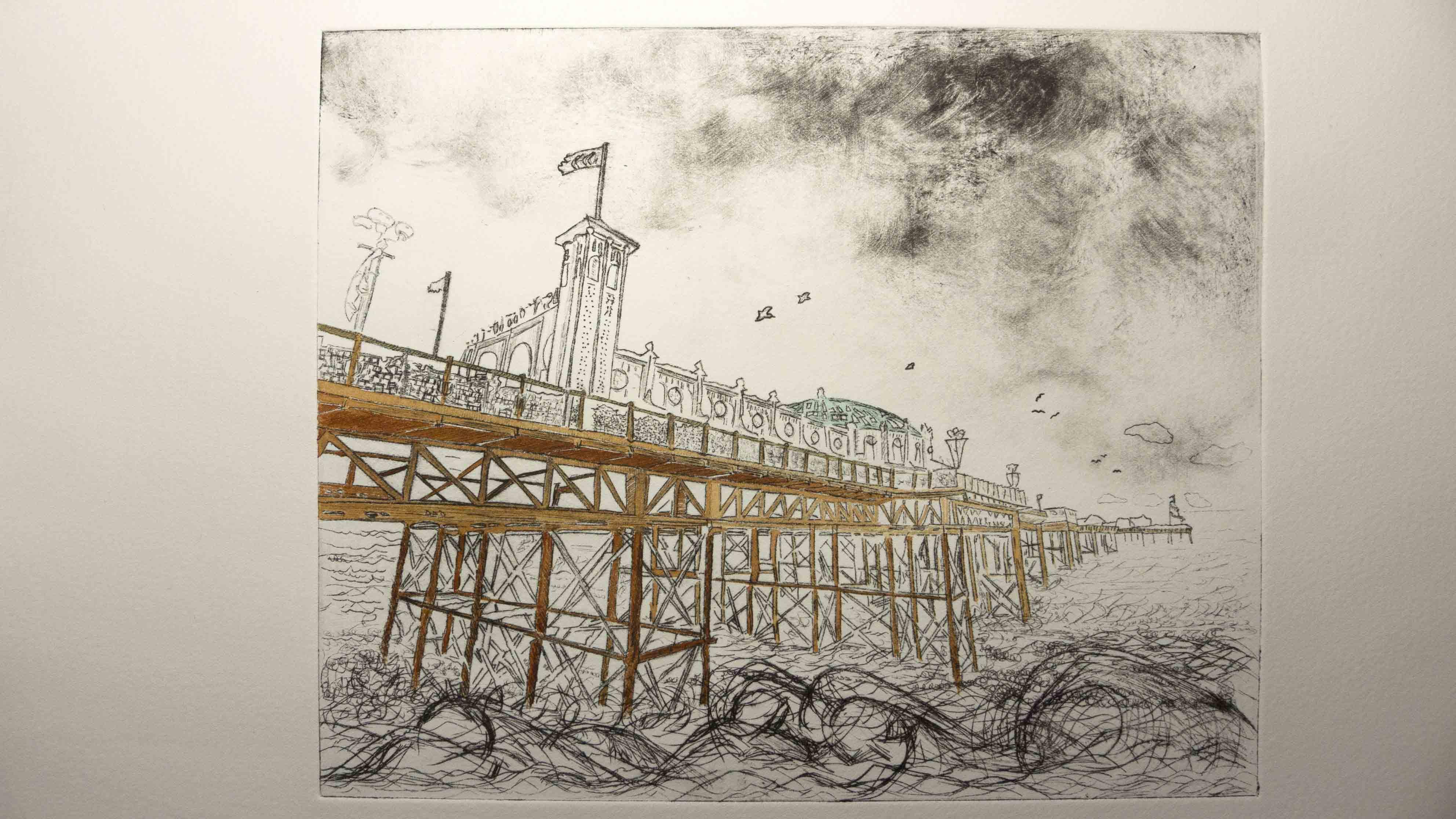 Dry Point Prints : Janine Kilroe