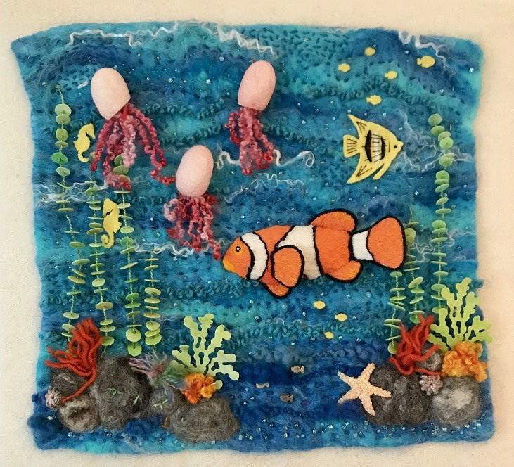 3D Fibre and Stitch : Under the Sea - 2 Night : Joanna Pout