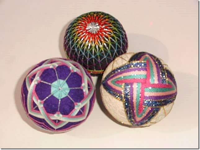 Embroidery (Hand): Japanese Temari Balls and Chinese Rice Dumplings : Pat Trott